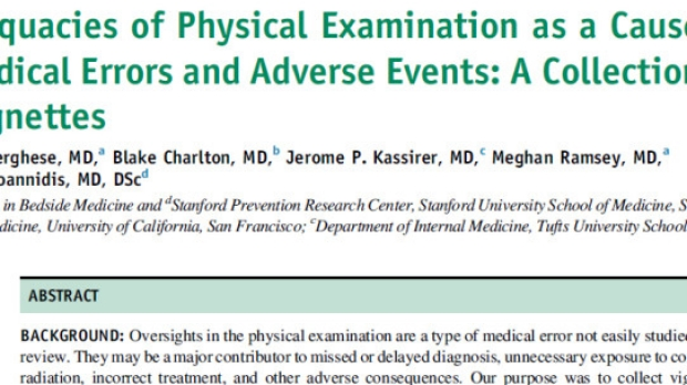 Medical Errors and Adverse Events from a Missed or Inadequate Physical Exam
