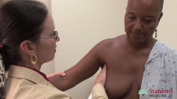 Lymph node exam: correct technique.